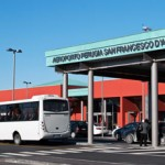 L'ingresso dell'aeroporto San Francesco d'Assisi