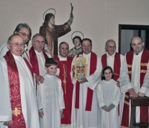 La delegazione eugubina con il vescovo Ceccobelli