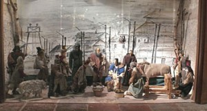 Il presepe costruito da militari italiani internati nel lager di Wietzendorf con materiali poveri (Milano, Chiesa di Sant'Ambrogio)