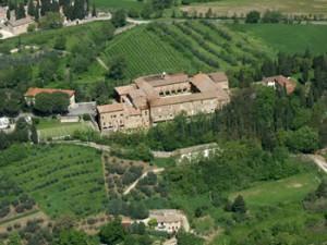 """Foto aerea dell'Istituto superiore di agraria """"Ciuffelli"""" di Todi"""