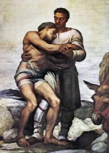 """George Frederick Watts, """"Il buon samaritano"""" Manchester Art Gallery"""