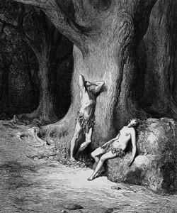 """Doré, """"Adamo ed Eva dopo il peccato"""""""