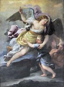 L'angelo custode aiuta nella lotta contro il demonio (immagine dalla Rete)