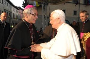 Mons. Domenico Cancian con papa Benedetto XVI