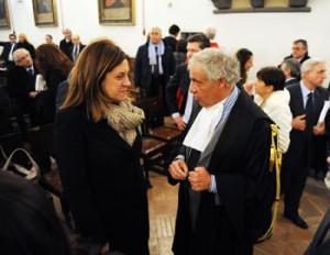 Catiuscia Marini con Alberto Avoli