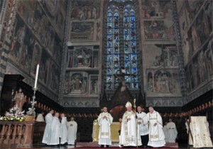 La celebrazione per la festa di San Giuseppe presieduta dal vescovo