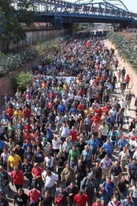 Operai dell'Ilva protestano per il sequestro dello stabilimento