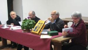Da sinistra don Sargeni, don Marconi, Ivano e Maria Teresa Corrieri