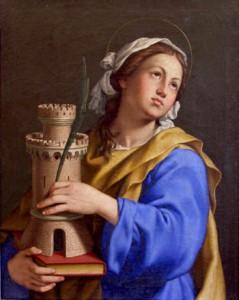 """Sassoferrato, """"Santa Barbara"""", basilica di San Pietro"""
