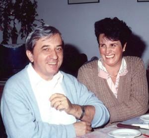 Vittorio con la moglie Lia