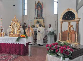 La visita nella chiesa di Dunarobba