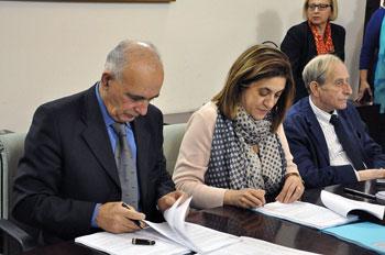 Bistoni, Marini e Tomassoni firmano la convenzione