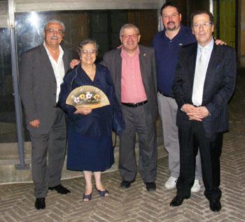 Il Trio del Donca con l'assessore Andrea Cernicchi e Sandro Allegrini
