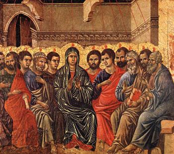 """""""Pentecoste"""" Duccio di Buoninsegna 1308-1311, Museo dell'Opera del Duomo, Siena"""