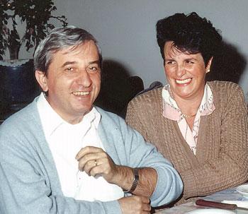 Vittorio Trancanelli con la moglie Lia Sabatini
