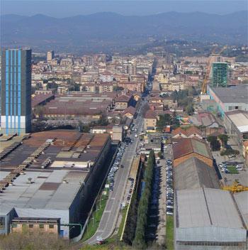 Panorama degli stabilimenti delle acciaierie di Terni