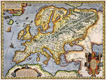 L'Europa in una carta del 1595