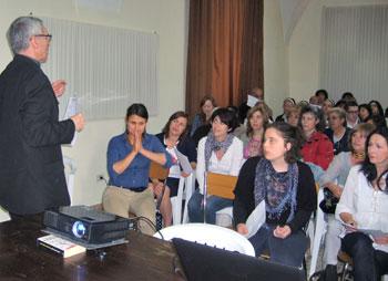 I partecipanti all'incontro di verifica della catechesi