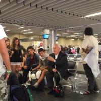 All'aeroporto di Rio