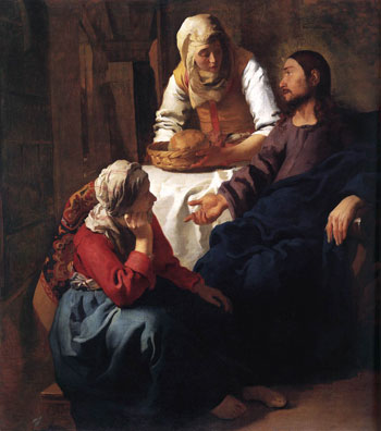 Cristo nella casa di Marta e Maria. Jan Vermeer (1654-55)