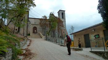 L'ingresso alla basilica di Sant'Ubaldo