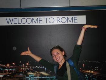 Una delle ragazze che hanno partecipato alla Gmg di Rio al rientro in Italia