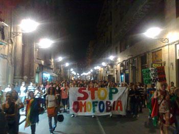 Manifestazione contro l'omofobia (Foto di Daniela Tomasino)