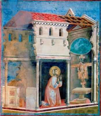 San Francesco davanti al crocifisso in San Damiano