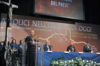 Un momento della 46a edizione della Settimana sociale che si è tenuta a Reggio Calabria nell'ottobre del 2010