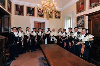 Il Rettore e i Presidi delle facoltà all'inaugurazione dell'A. A. 2012-2013