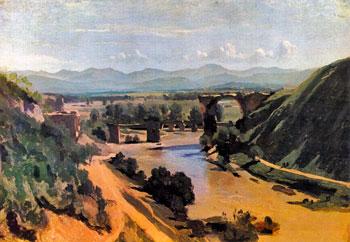 """""""Il ponte di Narni"""" dipinto da Corot (1826)"""