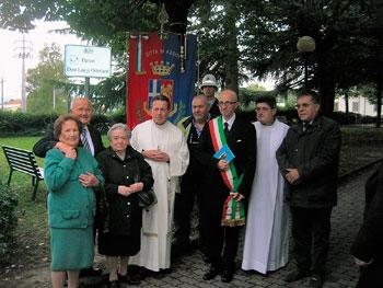 Inaugurazione del parco intitolato a don Luigi Ortolani alla presenza delle autorità e della comunità