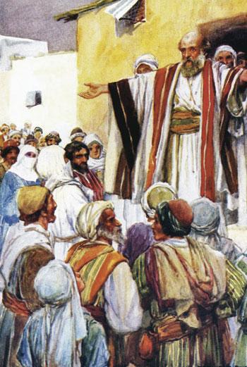 Gli apostoli parlano in lingue diverse dopo Pentecoste