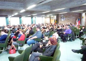 L'aula con i partecipanti all'Assemblea ecclesiale