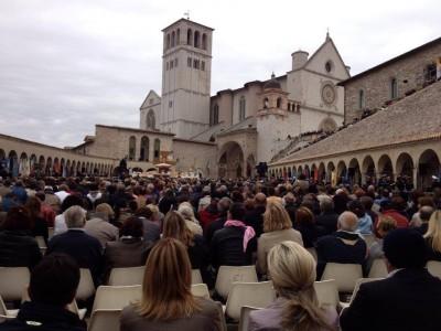 la messa con papa francesco