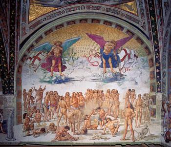 La risurrezione dei morti dipinta da Luca Signorelli a Orvieto