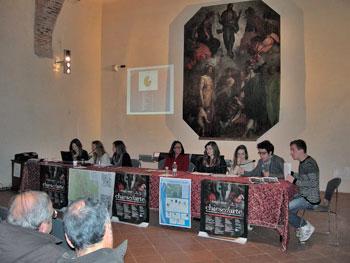 I giovani relatori durante l'incontro
