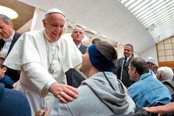 Papa Francesco incontra i partecipanti al pellegrinaggio dell'Unitalsi