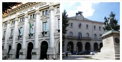 Il palazzo della Provincia di Terni e di Perugia