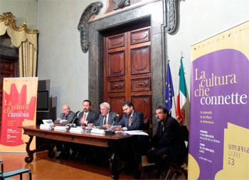 Da sinistra Giuliano Casciarri, Andrea Cernicchi, Fabrizio Bracco, Simone Guerra alla presentazione