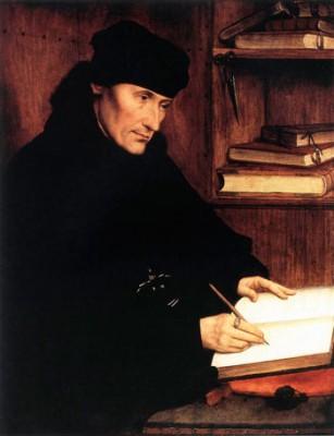 Quentin Massys, Erasmo da Rotterdam, 1517