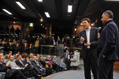 Matteo Renzi a Perugia in occasione della presentazione del suo libro