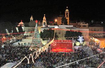 Il grande albero di Natale di Betlemme