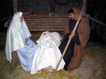 La capanna, una scena del presepe vivente di Armenzano (foto da www.armenzano.it)