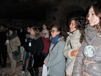 """Alcuni degli studenti che hanno partecipato ai percorsi """"giubilari"""""""