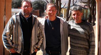 Don Leonardo Giannelli, Luca Uccellani e don Antonio Zavatarelli in una foto di alcuni anni fa
