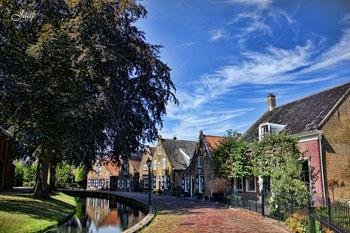 Uno scorcio della cittadina di Ridderkerk che è stata meta della visita del sindaco