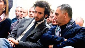 Il candidato come segretario regionale del Pd Leonelli con il presidente della Provincia di Perugia Guasticchi