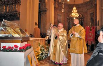 Mons. Bassetti in un momento durante la celebrazione