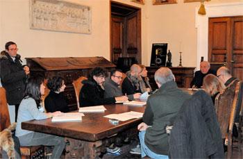Il Rettore Franco Moriconi in conferenza stampa